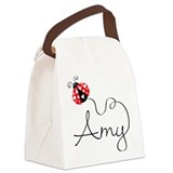 Ladybug Amy Canvas Lunch Bag