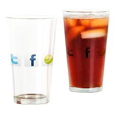 Twitter facebook tennis Drinking Glass