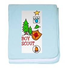 Boy Scout baby blanket