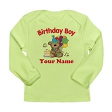 Birthday Boy Bear Long Sleeve Infant T-Shirt