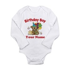 Birthday Boy Bear Long Sleeve Infant Bodysuit