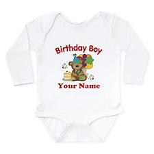 Birthday Boy Bear Onesie Romper Suit