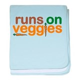 Runs on Veggies baby blanket