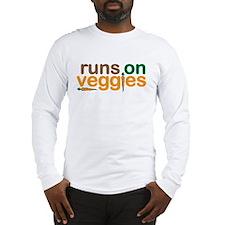 Runs on Veggies Long Sleeve T-Shirt