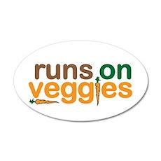 Runs on Veggies 20x12 Oval Wall Decal