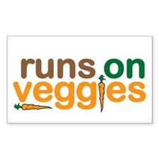 Runs on Veggies Decal
