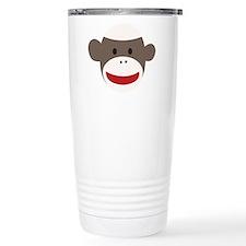 Sock Monkey Face Stainless Steel Travel Mug