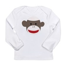 Sock Monkey Face Long Sleeve Infant T-Shirt