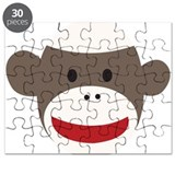 Sock Monkey Face Puzzle