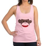 Sock Monkey Face Racerback Tank Top