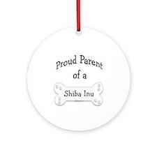 Proud Parent of a Shiba Inu Ornament (Round)