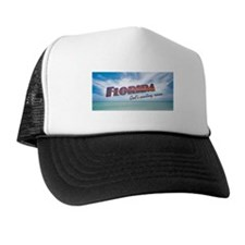 Florida God's Waiting Room - Blue Trucker Hat
