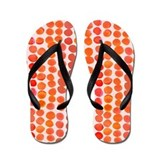 Orange Polka Dots Flip Flops