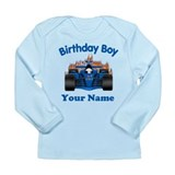 Birthday Boy Car Long Sleeve Infant T-Shirt