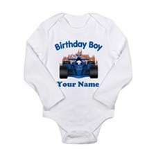 Birthday Boy Car Long Sleeve Infant Bodysuit