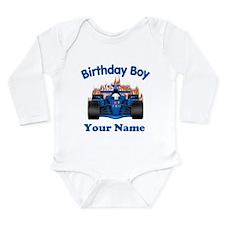 Birthday Boy Car Onesie Romper Suit