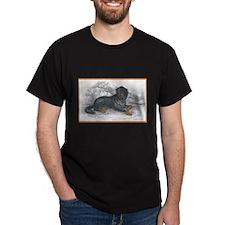 Mastiff Dog (Front) Black T-Shirt