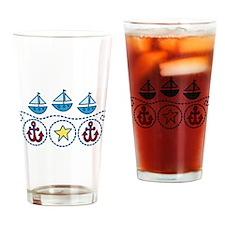 Sailboats Drinking Glass