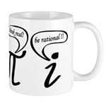 Think real be rational Mug