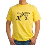 Think real be rational Yellow T-Shirt