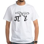 Think real be rational White T-Shirt