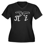 Think real be rational Women's Plus Size V-Neck Da