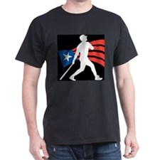 Puerto Rico Baseball Black T-Shirt