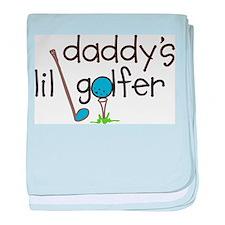 Daddys Lil Golfer baby blanket