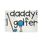 Daddys Lil Golfer Rectangle Magnet