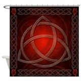 Celtic Knotwork Dragon Red Shower Curtain