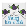 Swims Like A Fish Tile Coaster