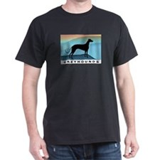 greyhound blue mt. Black T-Shirt