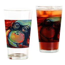 Orangutan Sam Drinking Glass