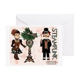 Marijuana Munchkins SteamPunk Greeting Card