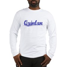 Quinlan, Blue, Aged Long Sleeve T-Shirt