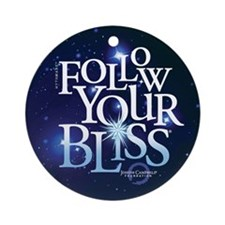 Follow Your Bliss Starry Ornament (Round)