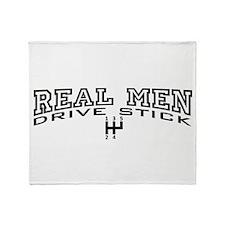 Real Men Drive Stick Throw Blanket