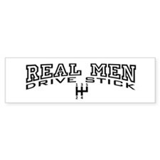Real Men Drive Stick Bumper Sticker