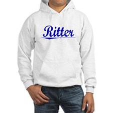 Ritter, Blue, Aged Hoodie
