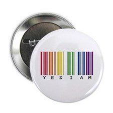"gay pride barcode 2.25"" Button (10 pack)"