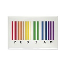 gay pride barcode Rectangle Magnet