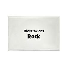 OBSTETRICIANS Rock Rectangle Magnet (10 pack)