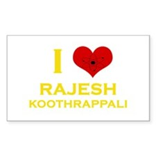 I Heart Rajesh Koothrappali Decal