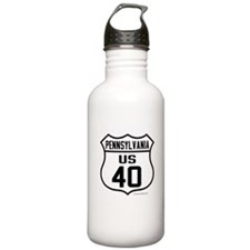 US Route 40 - Pennsylvania Water Bottle