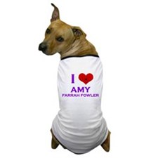 I Heart Amy Farrah Fowler Dog T-Shirt