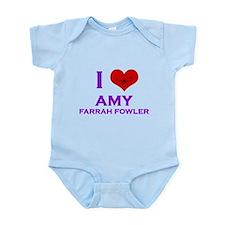 I Heart Amy Farrah Fowler Infant Bodysuit