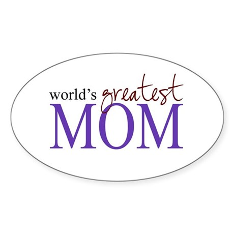 World's Greatest Mom Oval Sticker