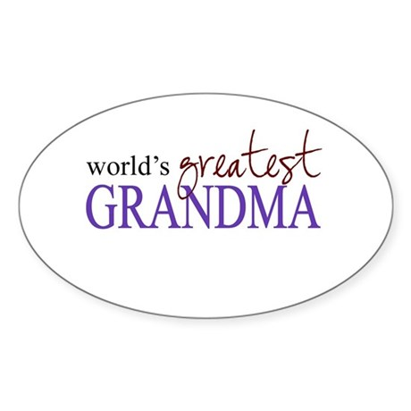 World's Greatest Grandma Oval Sticker