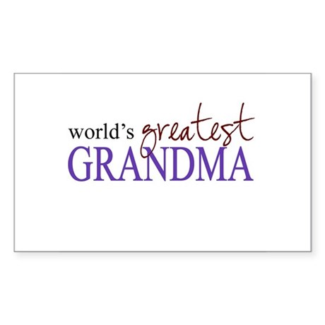 World's Greatest Grandma Rectangle Sticker