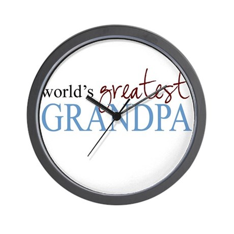 World's Greatest Grandpa Wall Clock